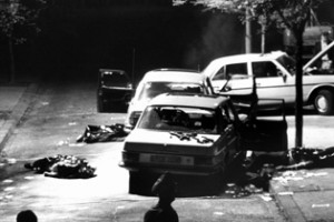 Scene of devastation after Hans Martin Schleyer was seized, his driver and police escort killed